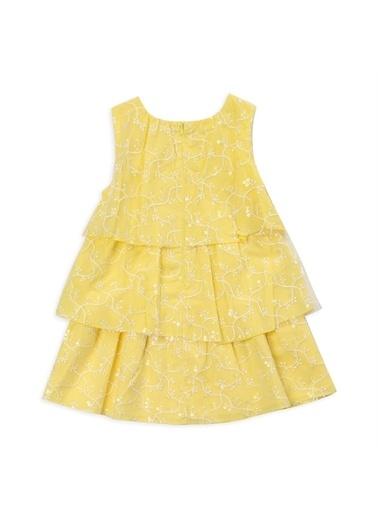 Panço Kız Çocuk Parti Elbisesi 2111GK26010 Sarı